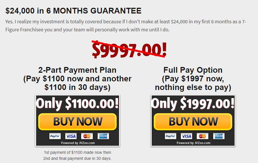 7 Figure Franchise Cost