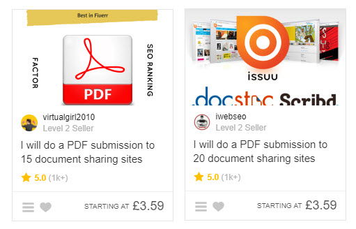 PDF submission services