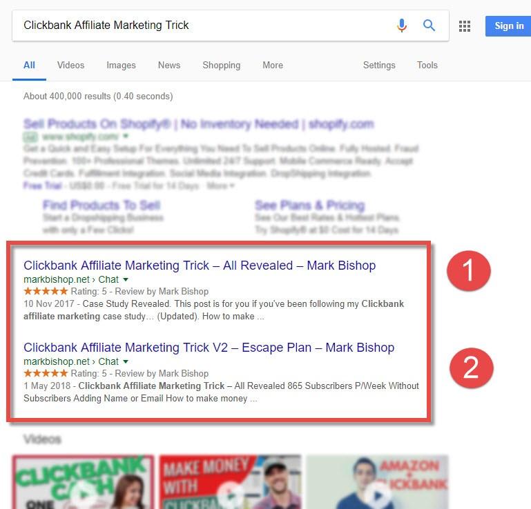 Google Page 1 Ranking